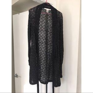 DVF Diane Von Furstenberg black wrap sweater